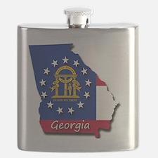 Georgia state flag Flask