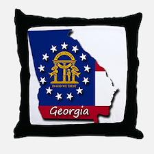 Georgia state flag Throw Pillow