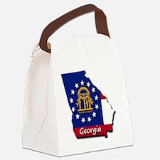 Georgia state flag Canvas Lunch Bag