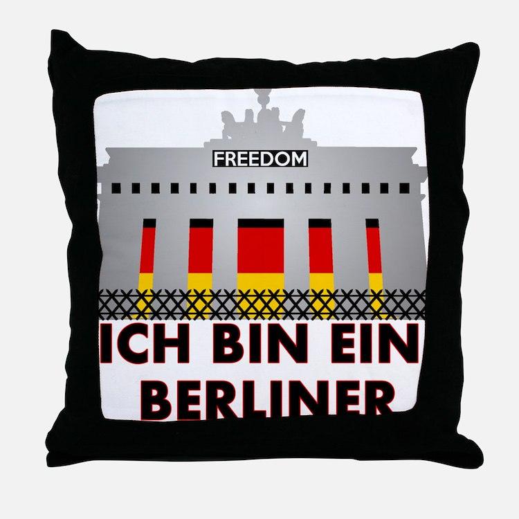 Cute Berliner Throw Pillow