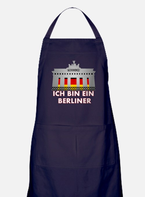 Cute Berlin wall Apron (dark)