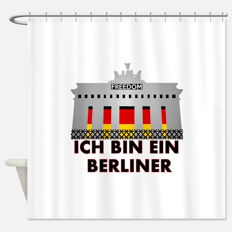 Cute Berliner Shower Curtain