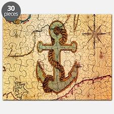 vintage nautical map anchor Puzzle