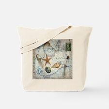 vintage nautical beach sea shells Tote Bag