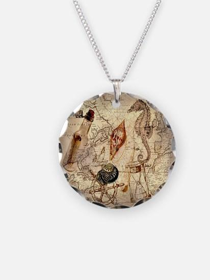 vintage nautical seashells s Necklace