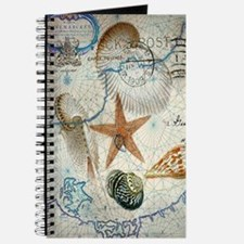 vintage nautical beach sea shells Journal