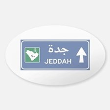 Jeddah Road Sign, Saudi Arabia Decal