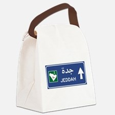 Jeddah Road Sign, Saudi Arabia Canvas Lunch Bag
