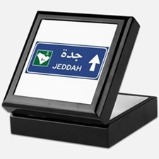 Jeddah Road Sign, Saudi Arabia Keepsake Box