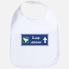 Jeddah Road Sign, Saudi Arabia Bib