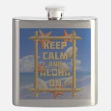 Keep Calm And Aloha On Flask