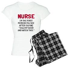Nurse first person you see Pajamas