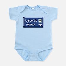 Mecca Road Sign, Saudi Arabia Infant Bodysuit