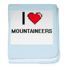 I Love Mountaineers baby blanket
