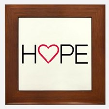 Unique Faith hope love butterfly Framed Tile