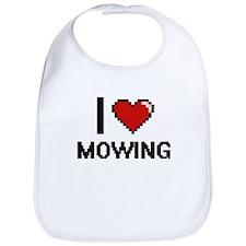 I Love Mowing Bib