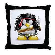 LINUX RAMBO Throw Pillow