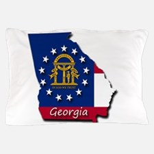 Georgia state flag Pillow Case