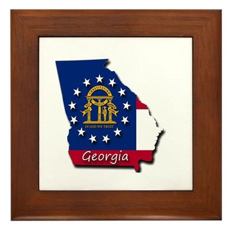 Georgia State Flag Framed Tile By Admin Cp129519821