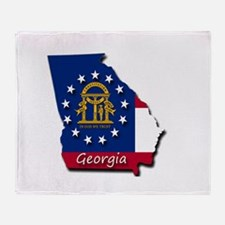 Georgia state flag Throw Blanket