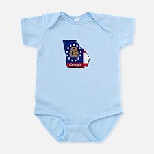 Georgia state flag Body Suit