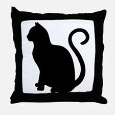 Cute Black outline Throw Pillow