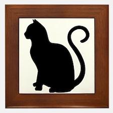 Cute Cat design Framed Tile