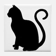Funny Cat design Tile Coaster