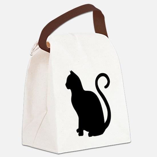 Cute Cat art Canvas Lunch Bag