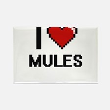 I Love Mules Magnets