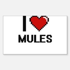 I Love Mules Decal