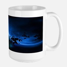Alien Blue Planets Green Asteroids Mugs