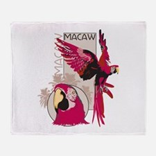 Red Macaw Throw Blanket