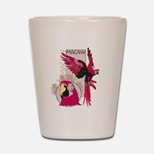 Red Macaw Shot Glass