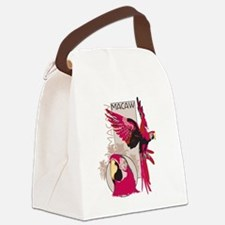 Red Macaw Canvas Lunch Bag