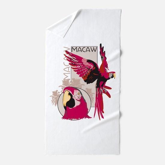 Red Macaw Beach Towel