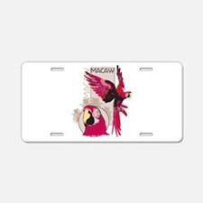 Red Macaw Aluminum License Plate