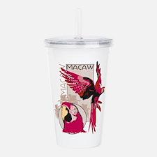 Red Macaw Acrylic Double-wall Tumbler