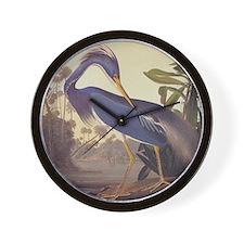 Louisiana Heron Wall Clock