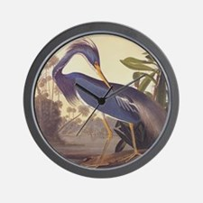 Louisiana Heron Wall Clock