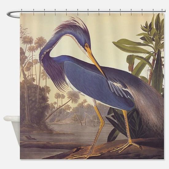 Louisiana Heron Shower Curtain