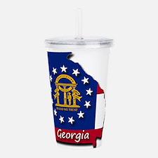 Georgia state flag Acrylic Double-wall Tumbler