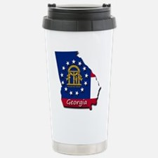 Georgia state flag Stainless Steel Travel Mug