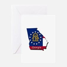 Georgia state flag Greeting Cards