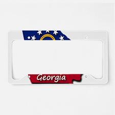 Georgia state flag License Plate Holder