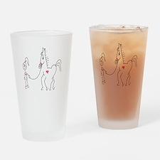 Horsie Love Drinking Glass