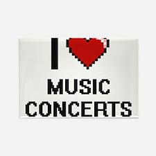 I Love Music Concerts Magnets