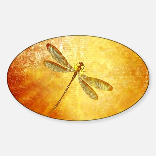 Golden dragonfly Decal