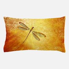 Golden dragonfly Pillow Case