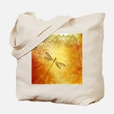 Golden dragonfly Tote Bag